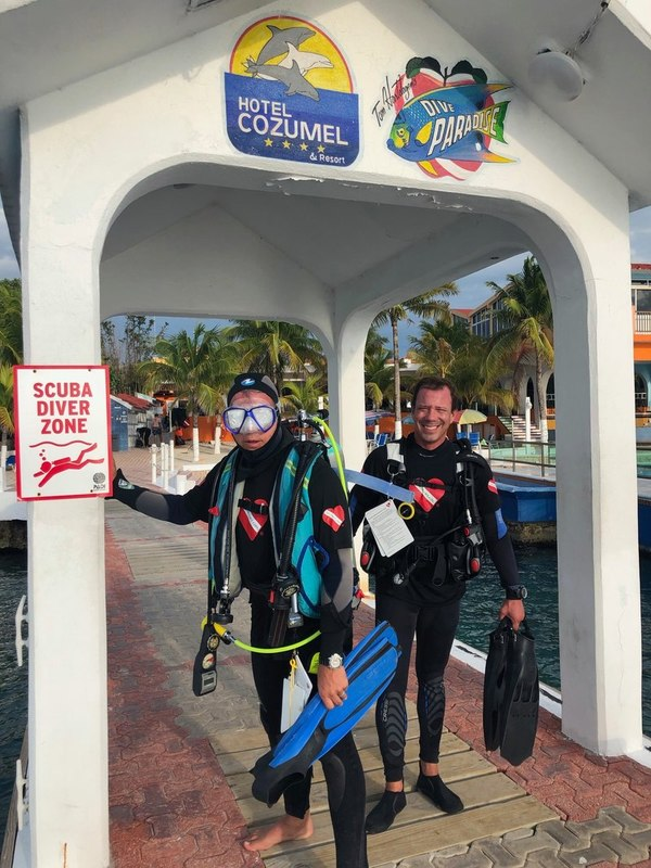 Giant Stride for the Blind in Cozumel Diveheart Adaptive