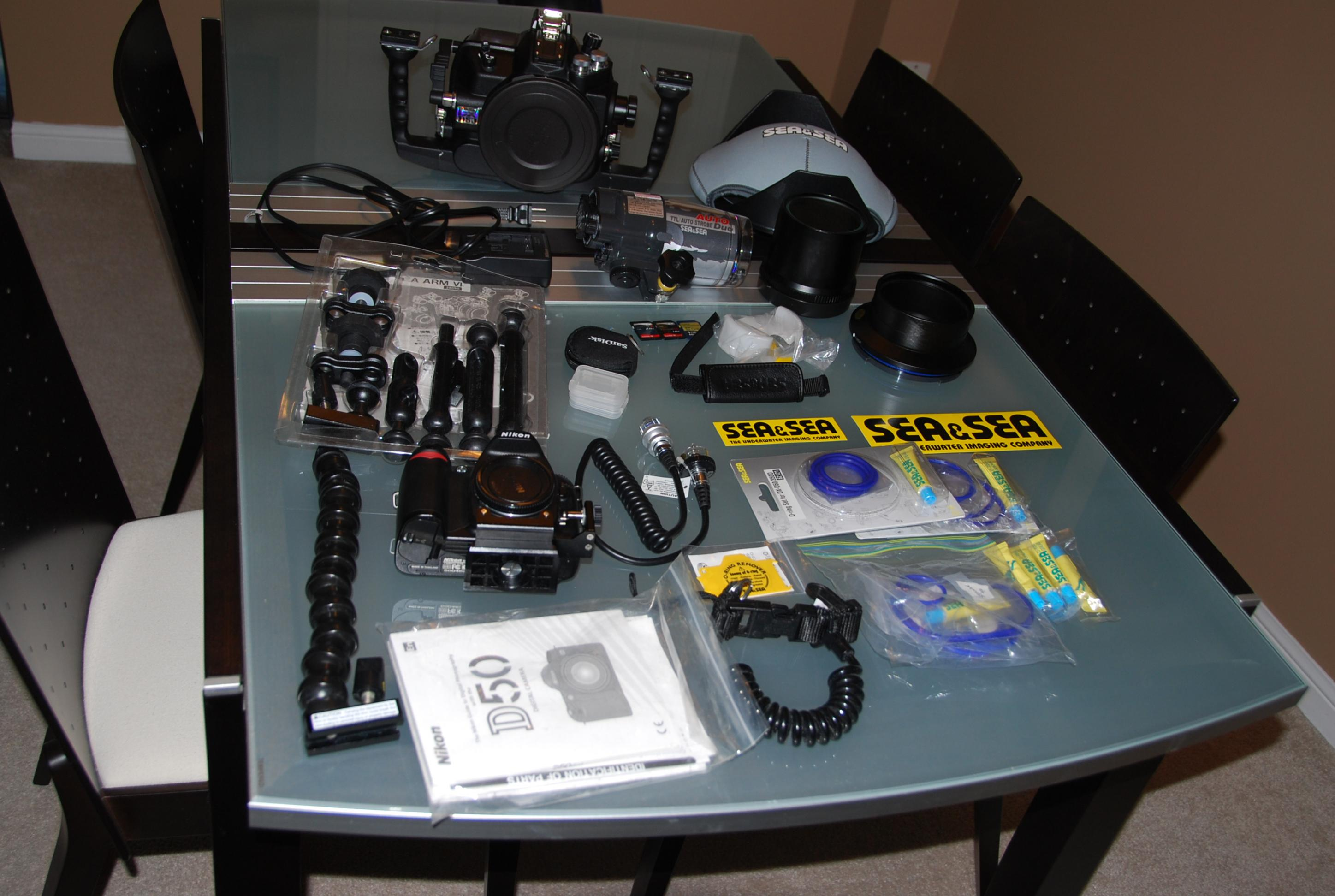 Sea&Sea DX-D50 Underwater housing complete system, ports