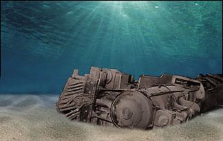 real underwater train. Sunken Train Real Underwater